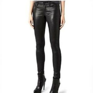 All Saints Women's Jeans Black Coated Brodie 29